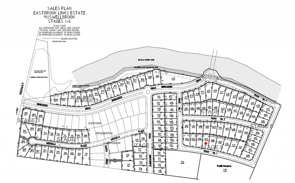Lot 507 Stage Plan